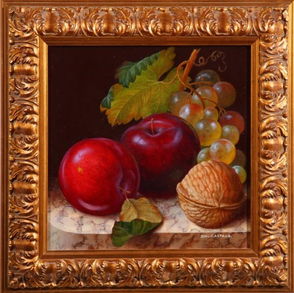 Ciruela, nuez y uvas (Plums, nut and grapes )