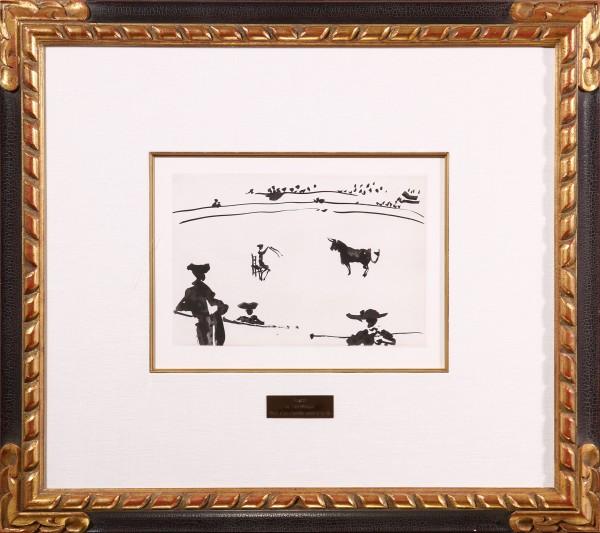 """""""Citando al toro a banderillas sentado en una silla"""" From La Tauromaquia o Arte de Torear"""
