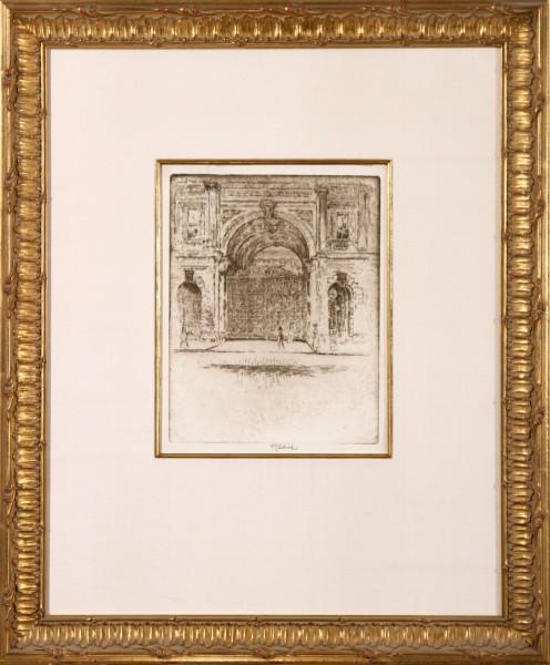 Gate of the Burlington House, Royal Academy