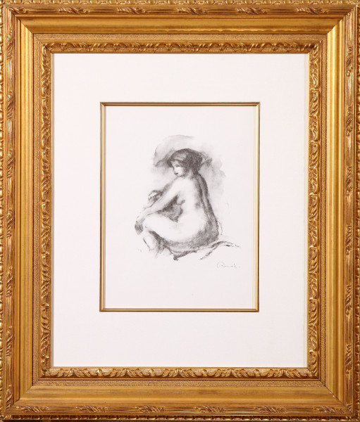 Etude de femme nue, assise
