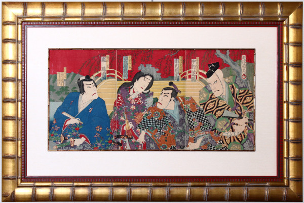 Chikanobu - Samurai and Beauty on the Sanjo Bridge 44746ac