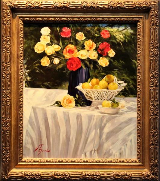 Rosas Y Mantel