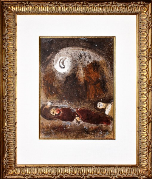 Chagall - Ruth at the Feet of Boaz 48910