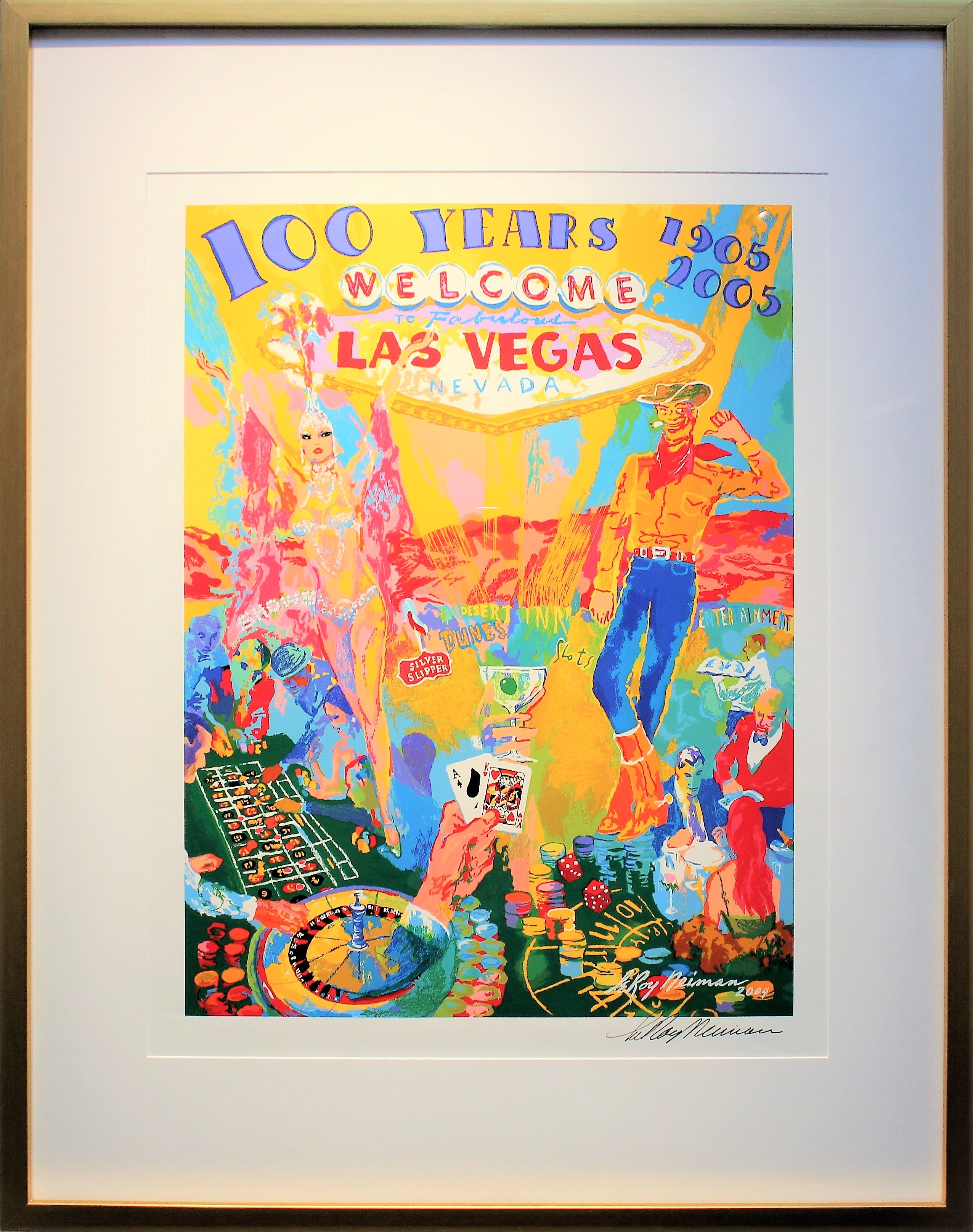 Centaur art gallery archives centaur art gallery move your mouse over imagethe screen print is a collage of typical scenes you will see in las vegas the show girl and the cowboy and you cant forget about gumiabroncs Images