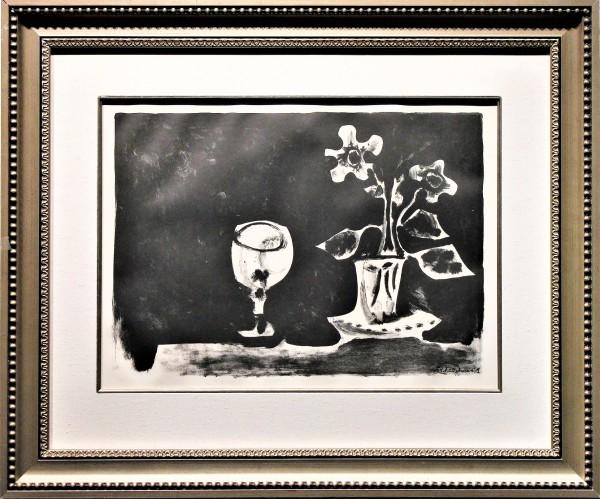 Still Life Glass & Flowers